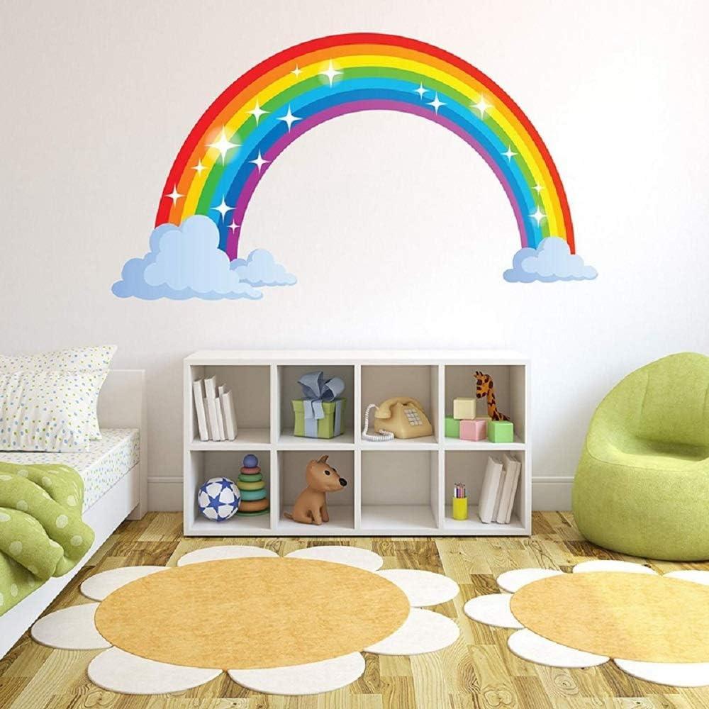 Gaosheng Stickers muraux en vinyle arc-en-ciel pour chambre denfant Chambre /à coucher ou salle de jeux