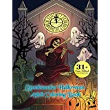 Spooktacular Halloween Adult Coloring Book: Autumn Halloween Fantasy Art with Witches, Cats, Vampires,  Zombies, Skulls, Shakespeare and More