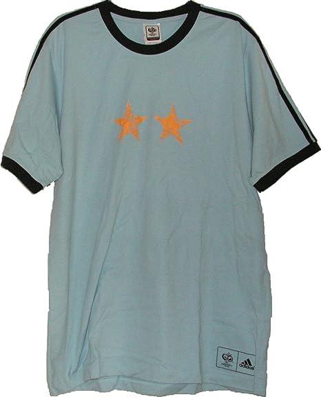 Adidas Argentina Camiseta de Hombres, Tamaño L, Color Azul Claro Azul Claro Talla: