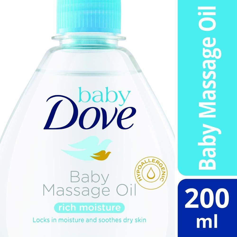 Baby Dove Rich Moisture Baby Massage Oil, 200ml DRME100 12955