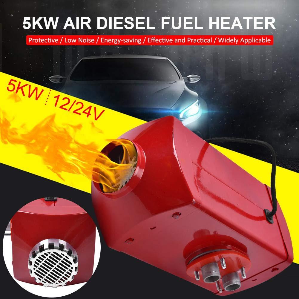 Diesel Heater 12V//24V Timing 5 kW Digital Display Thermostat Parking Diesel Air Heater for Cars Trucks Motor Homes Boats Bus Van Metal housing