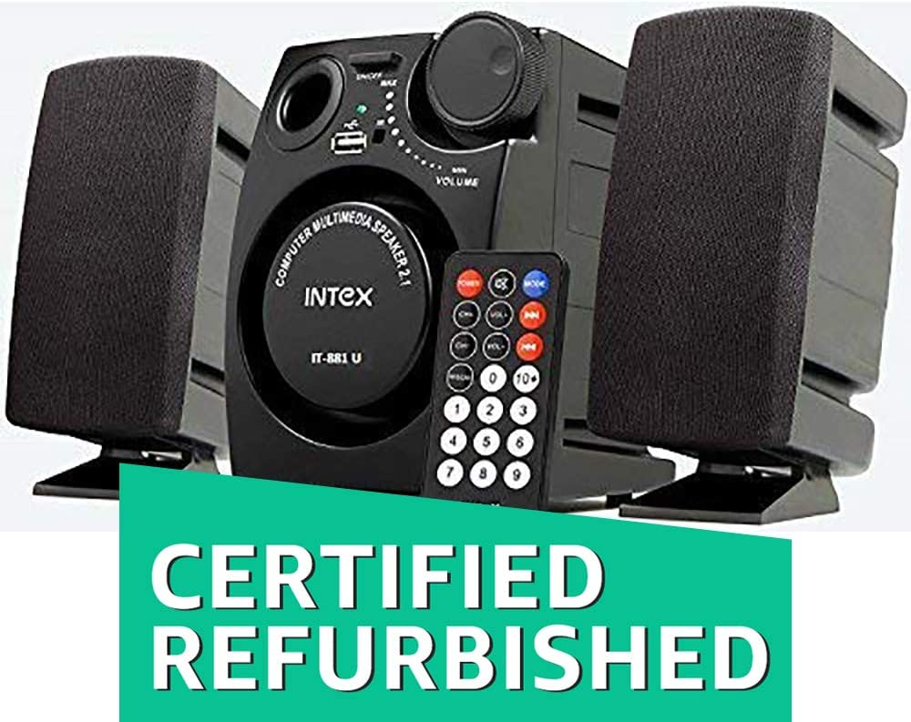 (Renewed) Intex IT-881U 2.1 Channel Multimedia Speakers (Black)