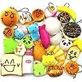 Trasfit 10 Pieces Random Squishy Charms Kawaii Soft Foods Jumbo Squishies