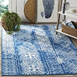 Safavieh Adirondack Collection ADR111F Silver and Blue Contemporary Bohemian Distressed Area Rug (11′ x 15′) Review
