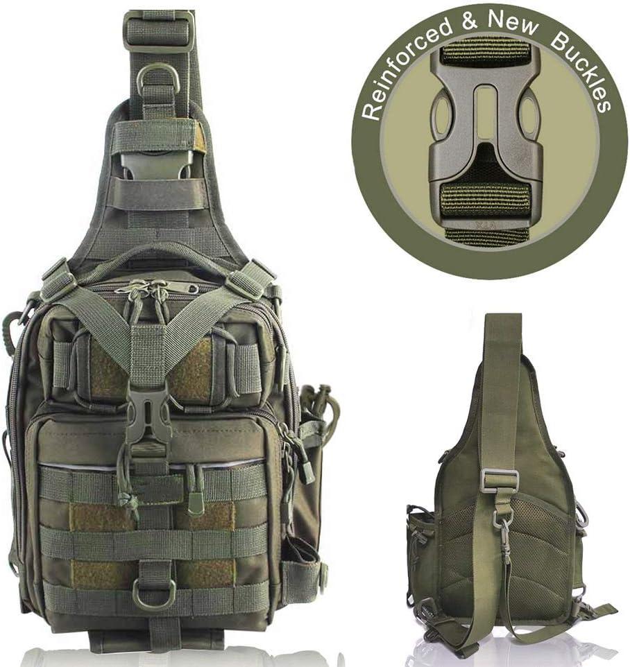 BLISSWILL Fishing Backpack Outdoor Tackle Bag Water-Resistant Fishing Bag Single Shoulder Bag Crossbody Fishing Gear Bag Hunting Backpack