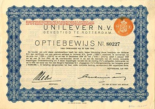 Unilever N V  Gevestigd Te Rotterdam   1 000 Francs