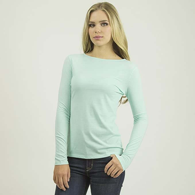 e2dca66bd Image Unavailable. Image not available for. Color  Women s Basics Long  Sleeve ...