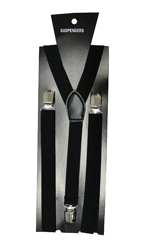 Unisex Adjustable Braces Adults Clip on Suspender Red Tartan 21FASHION
