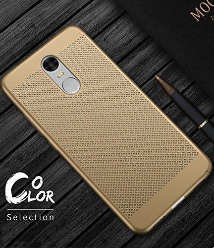 Funda Huawei Enjoy 6,Alta Calidad Ultra Slim Anti-Rasguño y Resistente Huellas Dactilares Totalmente Protectora Caso de Plástico Duro Case,Cuadrícula Disipación de calor Antideslizante Cover(YQ4-8) C