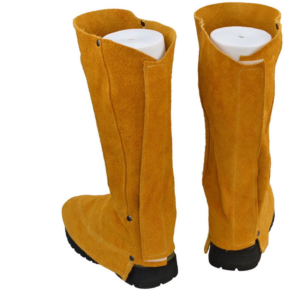 Amazon.com: Ocamo Welder Boots Wear-Resistant Heat Insulation Welder Boots Welding Spats Foot Cover Protector: Home & Kitchen