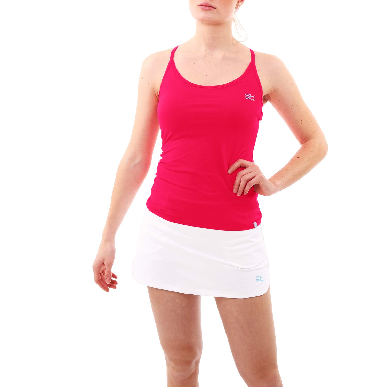 Sportkind Mädchen & Damen Tennis Fitness Yoga Spaghetti Tanktop B00K2YDO8Y Shirts & Blausen Voller Charme