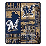 MLB Milwaukee Brewers Strength Printed Fleece Throw, 50-inch by 60-inch