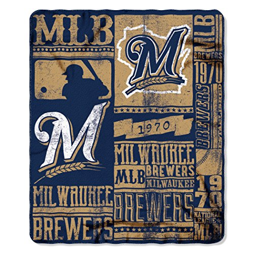 MLB Milwaukee Brewers Strength Printed Fleece Throw, 50-inch by 60-inch – DiZiSports Store