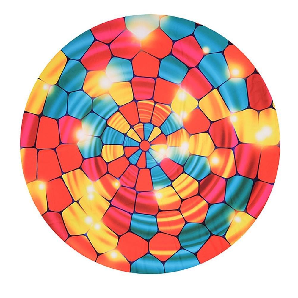 Colorido Pétalo de Impresión chal de Playa Toallas Redondas Picnic Mat Playa cojín , as picture , 150-150cm: Amazon.es: Deportes y aire libre