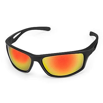 CHEREEKI Gafas de Sol Deportivas, Gafas de Sol Deportivas Polarizadas con Proteccion UV400 & Marco TR90 Irrompible, para Hombre y Mujer, Deportes al ...