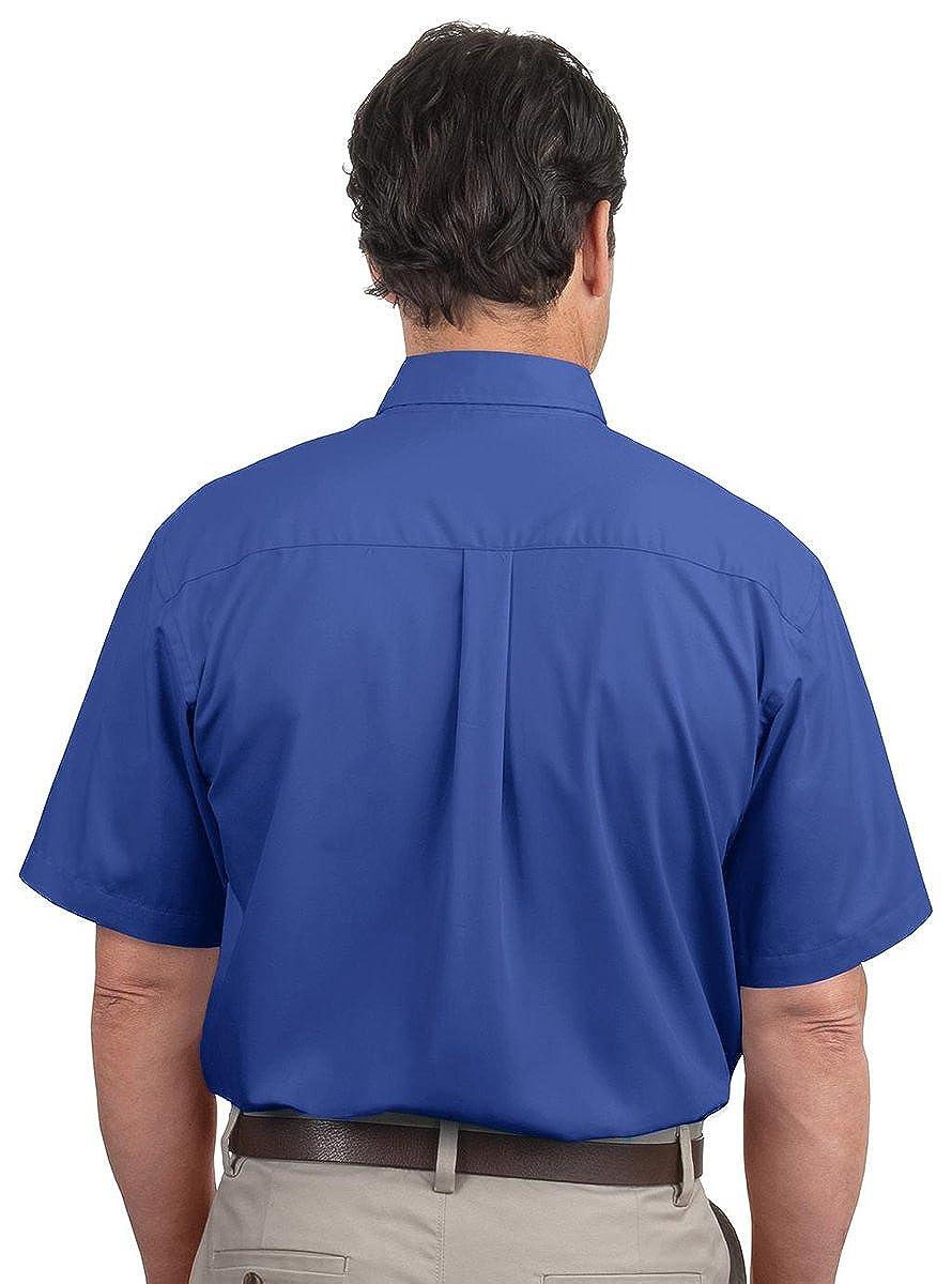 Port Authority Short Sleeve Easy Care Shirt White//Lt Stone