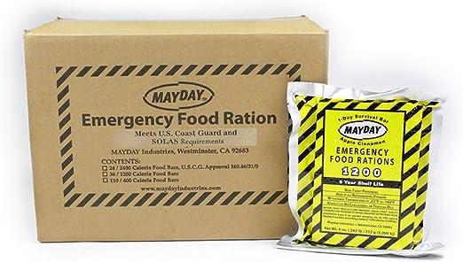 73511 Mayday alimentos Barra 1200 calorías 36 unidades
