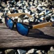 Oct17 Wood Bamboo Sunglasses Wooden Mens Womens Vintage Wayfarer Eyewear