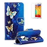 Funyye Magnetic Flip Cover for Samsung Galaxy S9,Premium Stylish Luxury Butterfly Pattern Stand Wallet PU Leather Case with Soft Silicone for Samsung Galaxy S9 + 1 x Free Screen Protector
