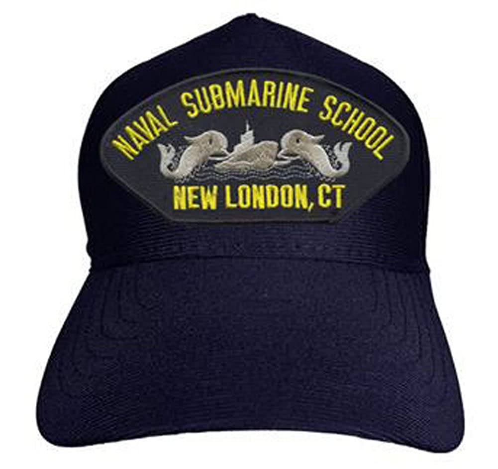 Naval Submarine School New London Made in USA CT Baseball Cap Navy Blue