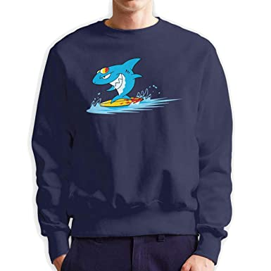 82e3a842e Shark Cartoon Crew-Neck Long Sleeve Pullover Sweatshirt Fleece Sweaters for  Men s at Amazon Men s Clothing store