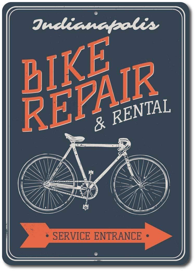 Cartel de metal para reparación de bicicleta, cartel de ...