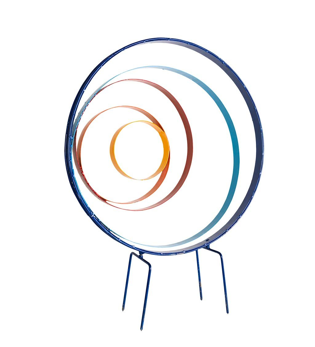 Wind & Weather Large Colorful Circle Stake - 24.5 L x 5.75 W x 31.25 H