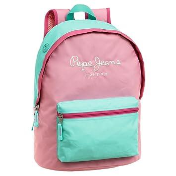 Pepe Jeans 62523A1 Bicolor Mochila Escolar, 22.85 litros, Color Rosa: Amazon.es: Equipaje