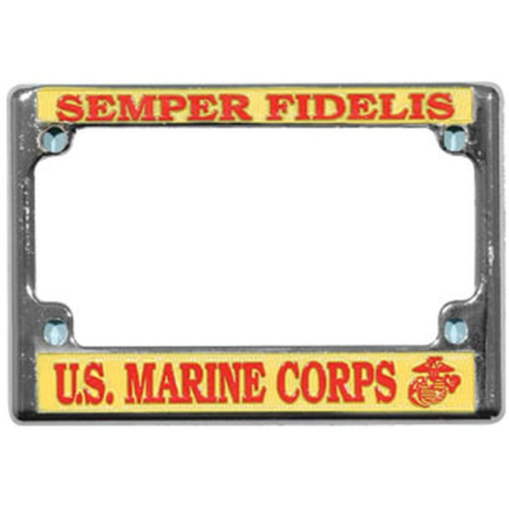 Amazon.com: U.S. Marine Corps Semper Fidelis Chrome Metal Motorcycle ...