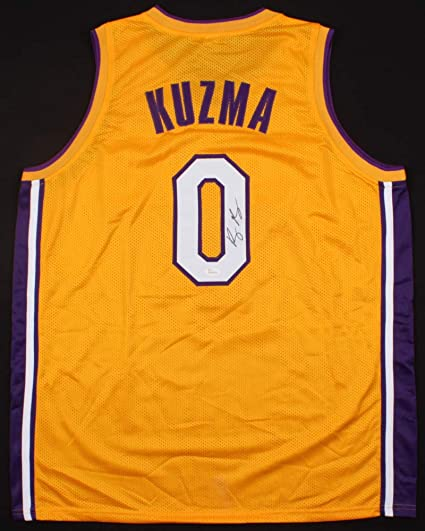 various colors b8751 e52b0 Amazon.com : First Row Sports Memorabilia Kyle Kuzma (Los ...