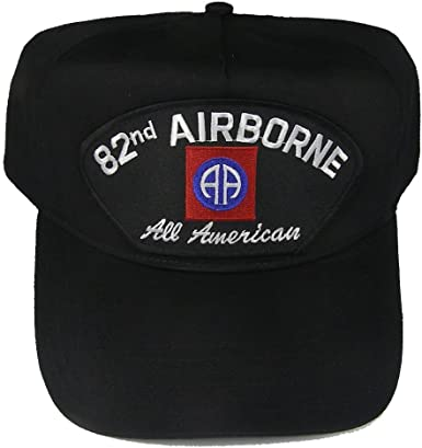 Made In USA Armed Forces Depot 82nd Airborne All American Baseball Cap Black