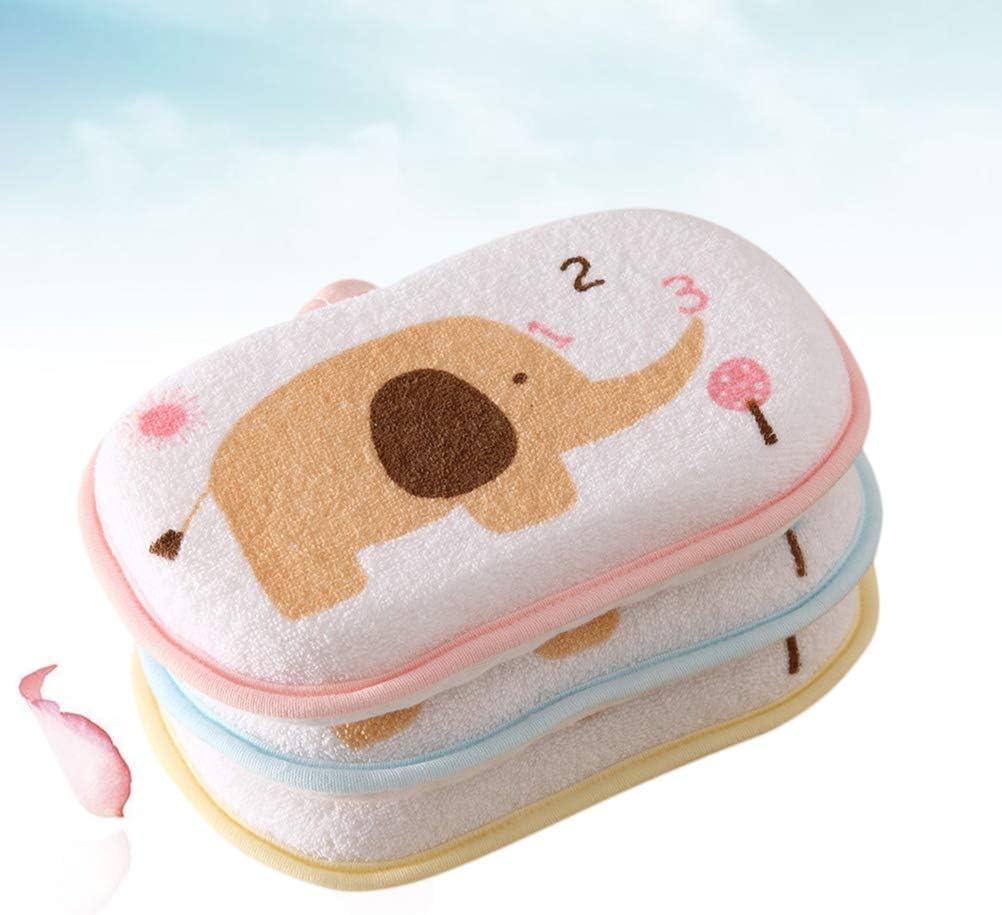 Lurrose 3 St/ücke Baby Baumwolle waschlappen Kleinkind duschhandschuhe Baden reiben pad mischfarbe