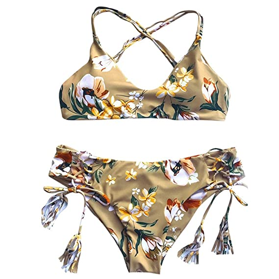 Bañadores Deportivas Mujer, ❤️Xinan Conjunto de Bikini de Traje de baño de Mujer Sujetador Push-up con Traje de baño Sujetador: Amazon.es: Ropa y ...