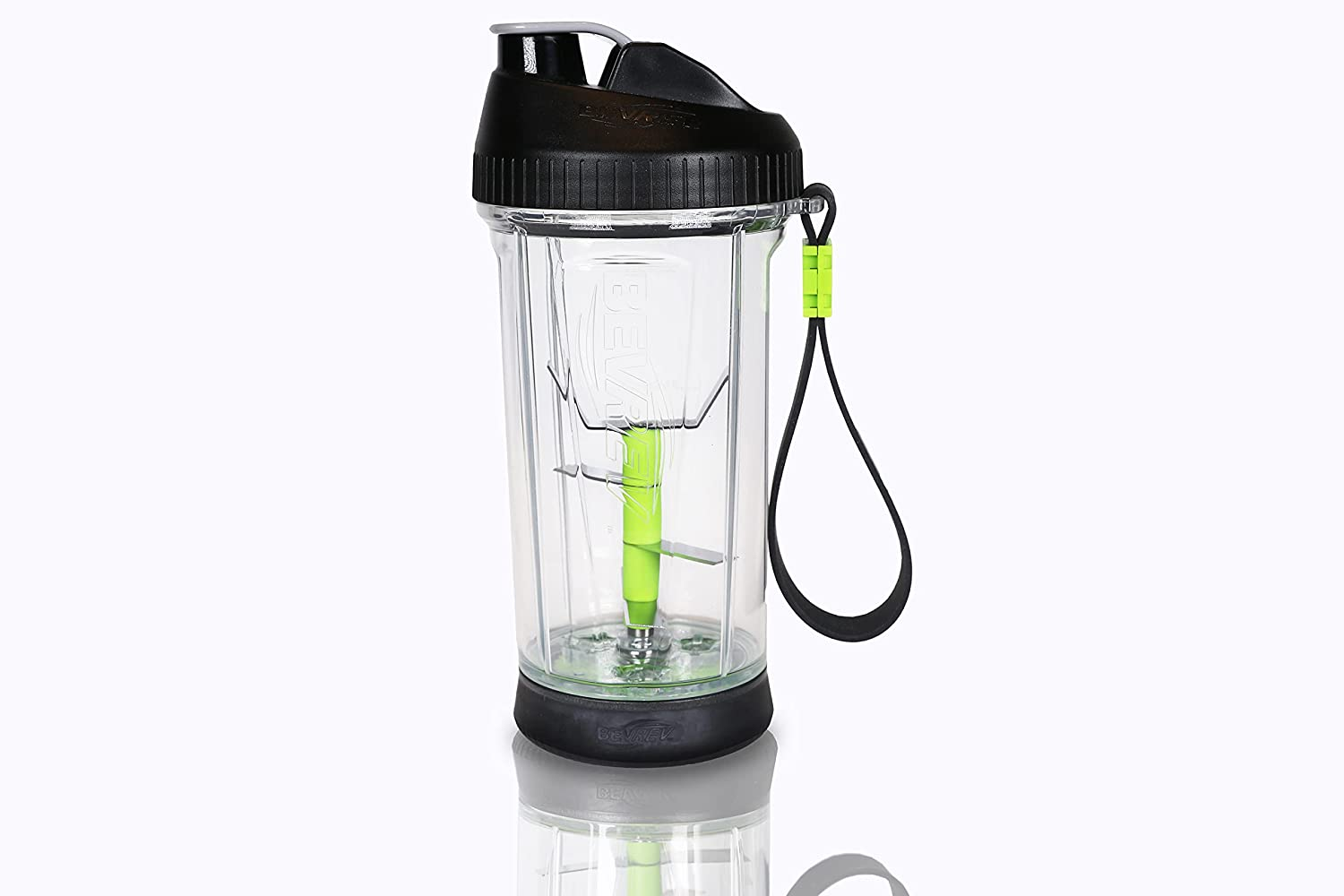 Bevrev Non-Electric Blender with Stainless Steel Blades, 18 ounces