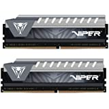 Patriot Viper Elite Series DDR4 8GB (2x4GB) 2666MHz PC4-21300 Dual Channel Kit (Black/Grey)