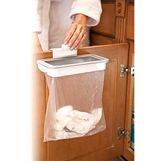 over the cabinet door garbage holder wastebaskets trash rack rh amazon co uk RV Garbage Bag Holder Slide Out Trash Bag Holder