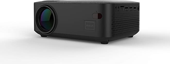 RCA RPJ143-Black 480p Home Theater Projector Supports 1080p w/HDMI & Bluetooth 5.0 (Renewed)