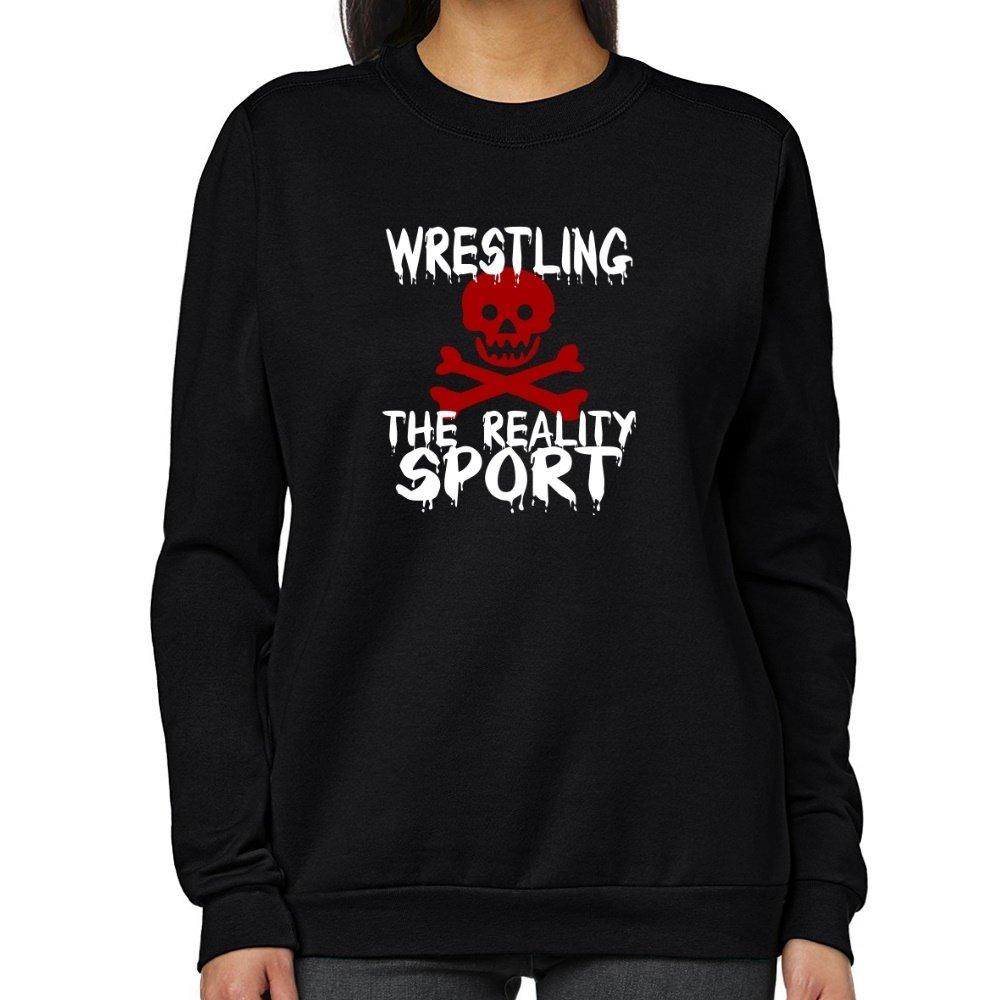 Teeburon Wrestling THE REALITY SPORT Women Sweatshirt