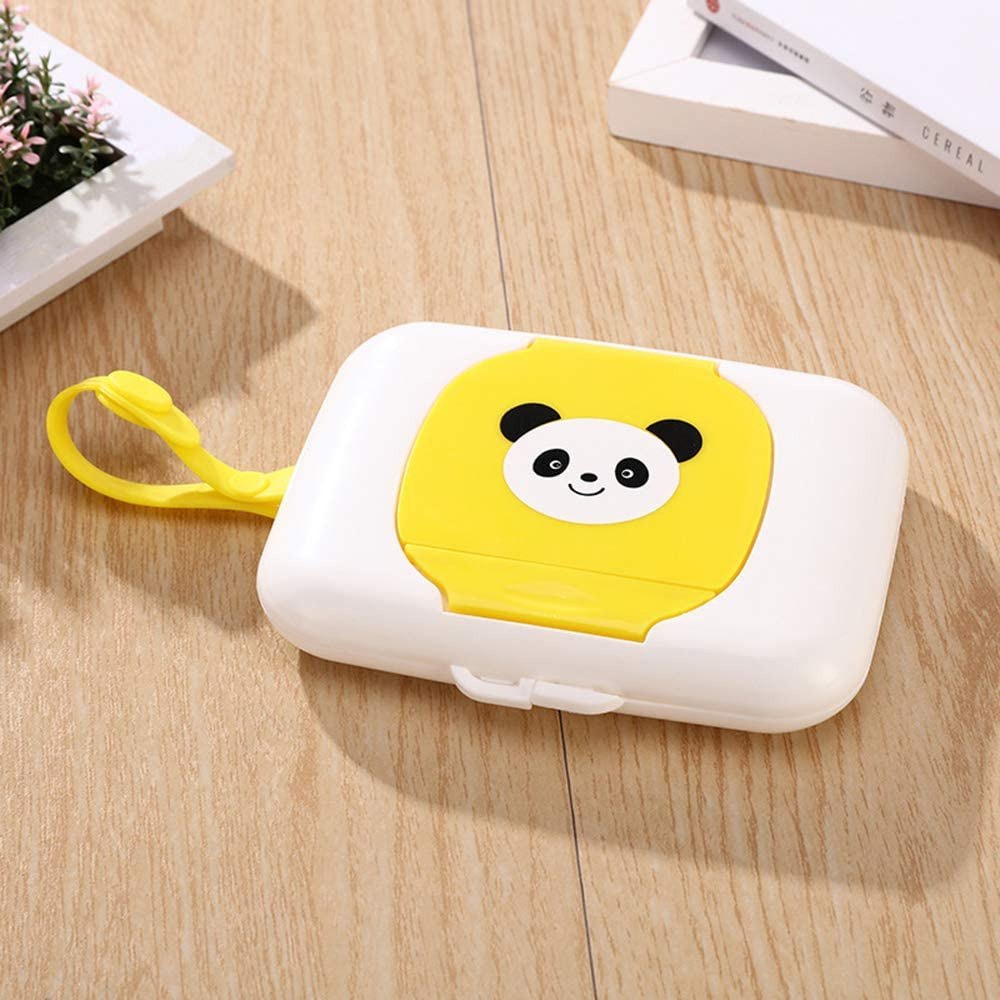 Ogquaton Baby Wipes Dispenser Box Travel Portable Wet Tissue Case White Panda New Released
