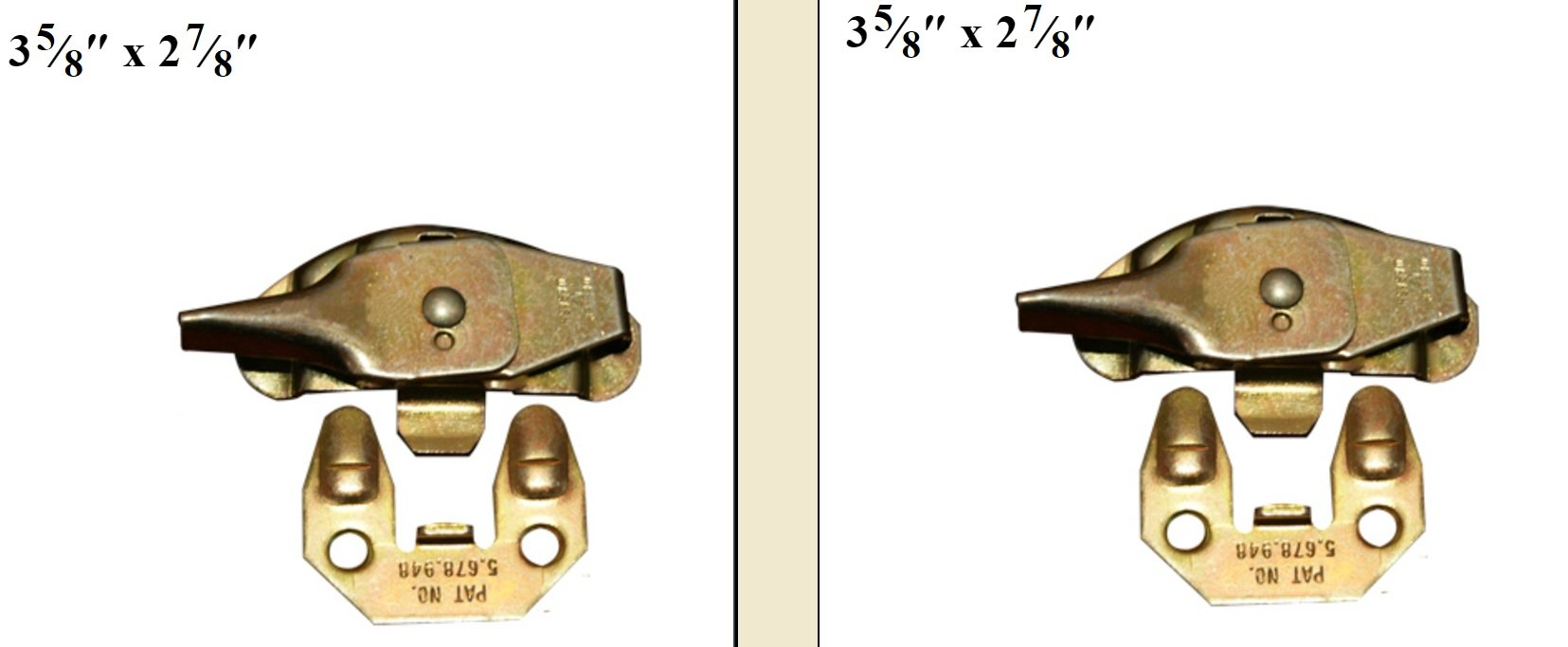 One Pair (2 Piece Set) Table Top Alignment Locks Align-N-Lock Hardware