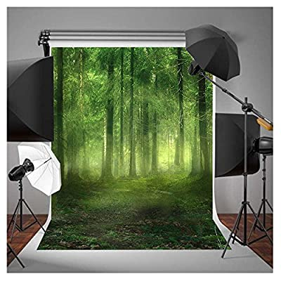FUT 3D Green Forest Vinyl Backdrop Virgin Forest Bryophytes Background For Photography, Video and Television Wall Decor 5x7ft