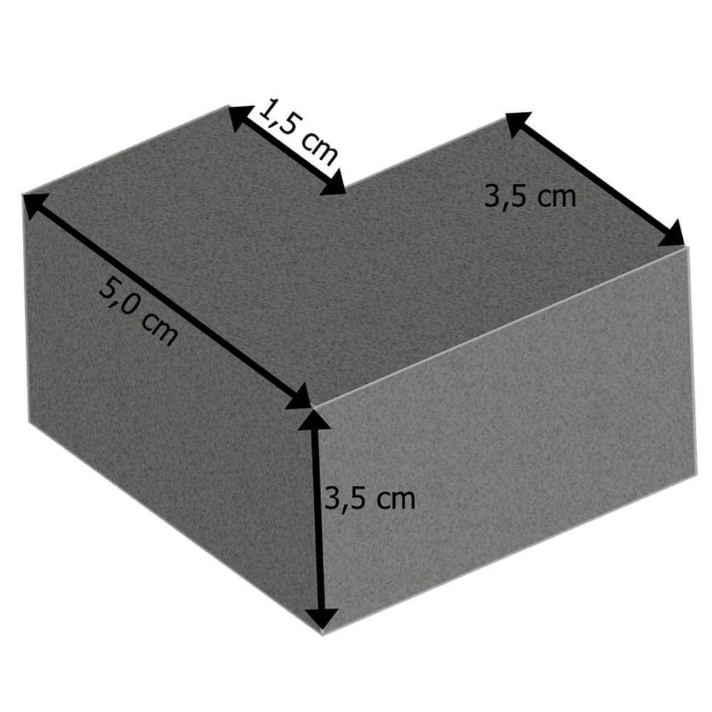 knuffi Protección Esquina tipo H de 2 Dimensional esquina tipo H, 2 de Dimensional, selbstkleb.Espuma de poliuretano, Negro, Plástico: Amazon.es: Industria, ...