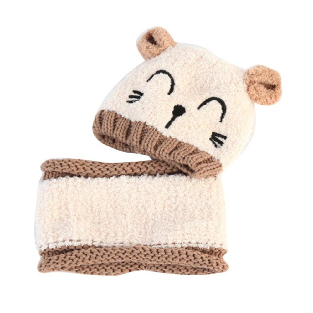 f9a1f4624280 ZEYI Baby Girls Boys Warm Soft Knit Bear Hat Toddler Winter Crochet ...
