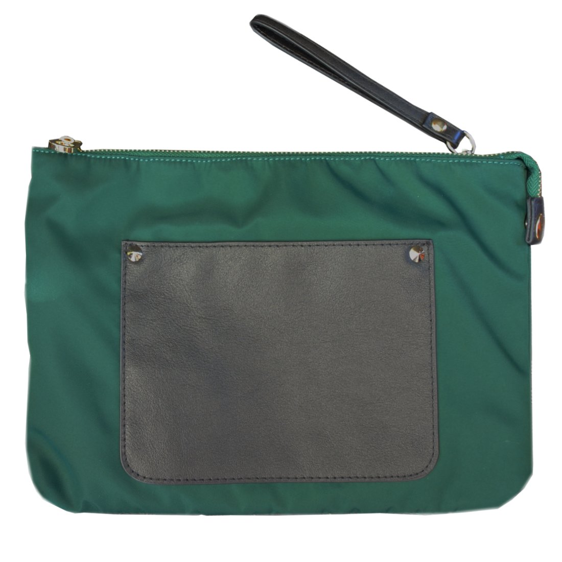 Fashion water-proof Travel/Business wristlet clutch crossbody bag Fits cell phone/ipad pro with shoulder and wrist strap for women/men - Green