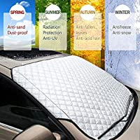 """Car Windshield Cover Magnetic Snow Windscreen, Anti-Frost Ice Frost Sun Shade Front Protector Aluminum Protective Universal Fits all Weather(Winter&Summer) for Most Trucks Suv Cars Vans (57""""x 39"""")"""