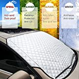 window tint flames - Car Windshield Cover Sun Shade Front Protector, Anti-Frost Ice Frost Magnetic Snow Windscreen Aluminum Protective Universal Fits all Weather(Winter&Summer) for Most Trucks Suv Cars Vans (57