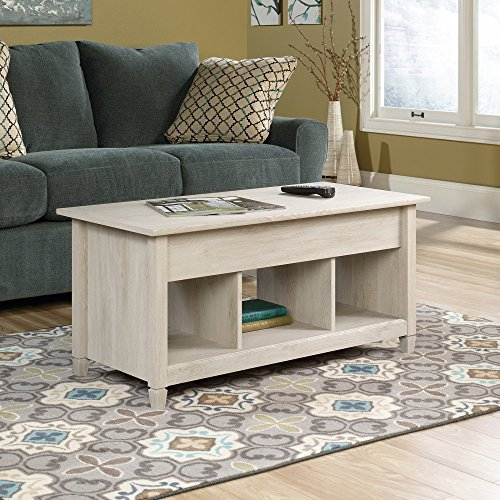 Sauder 419096 Edge Water Lift-Top Coffee Table, Chalked Chestnut Finish