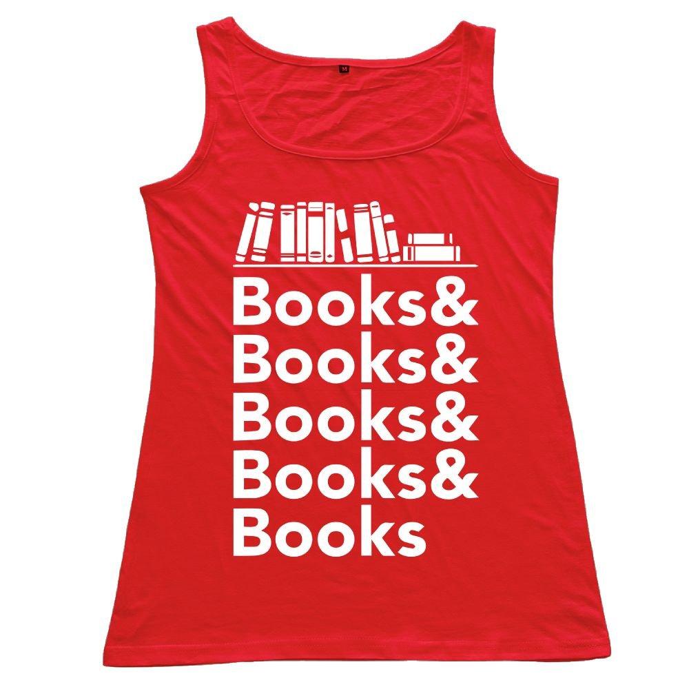 Amazon.com: ZhiqianDF Women Books Helvetica Cotton Tank Top ...