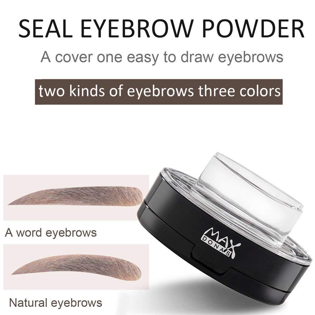 Maxdonas Waterproof Long-Lasting Eye Brow Stamp Powder Delicate Makeup Tools Coffee Color Straight Eyebrow 2#