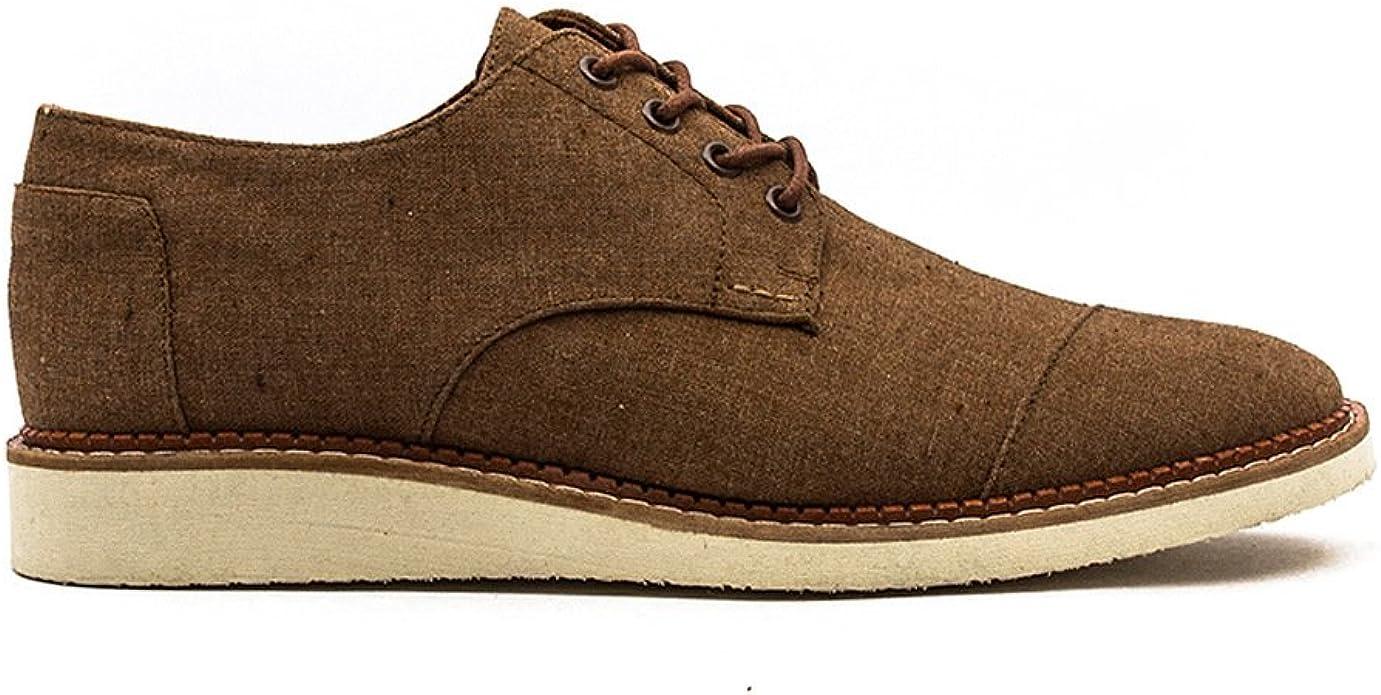 TOMS Men's Brogue Shoe Brown Chambray